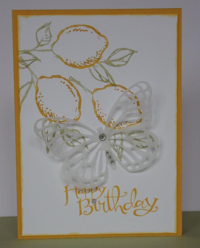 Zitronenkarte m. Schmetterling 1