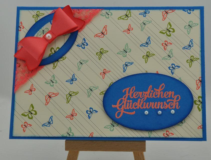 Geburtstagskarte mit Schmetterlingen 1
