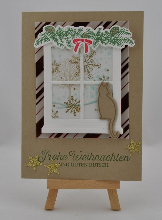 Weihnachtskarte Fenster 2