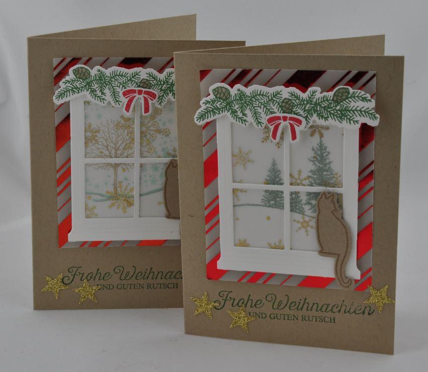 Weihnachtskarte Fenster 3
