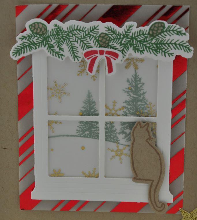 Weihnachtskarte Fenster 4