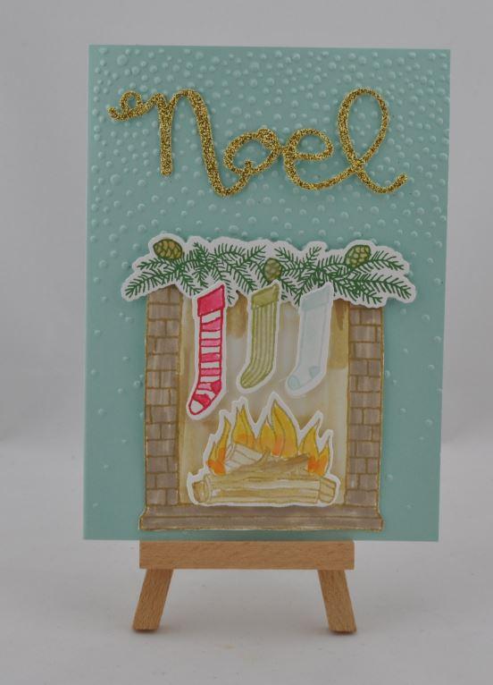 Weihnachtskarte Kamin 1