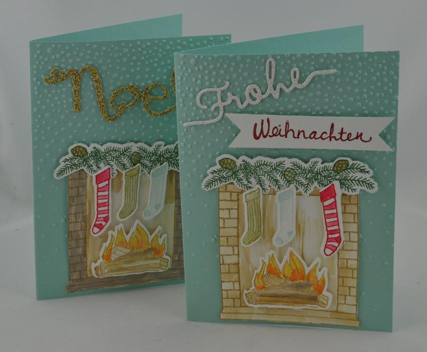 Weihnachtskarte Kamin 3