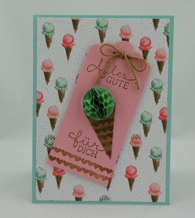 Geburtstagskarte mit Eistüten 1