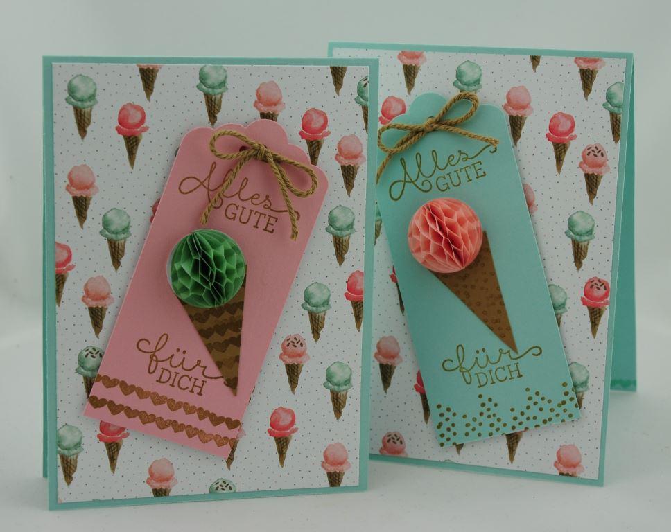 Geburtstagskarte mit Eistüten 7