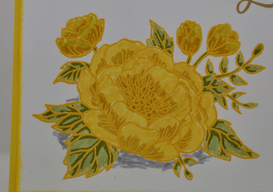 Glückwunschkarte mit gelber Blume 2