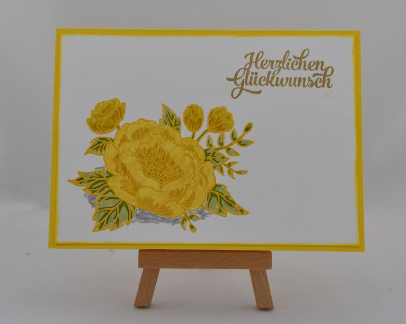 Glückwunschkarte mit gelber Blume 1
