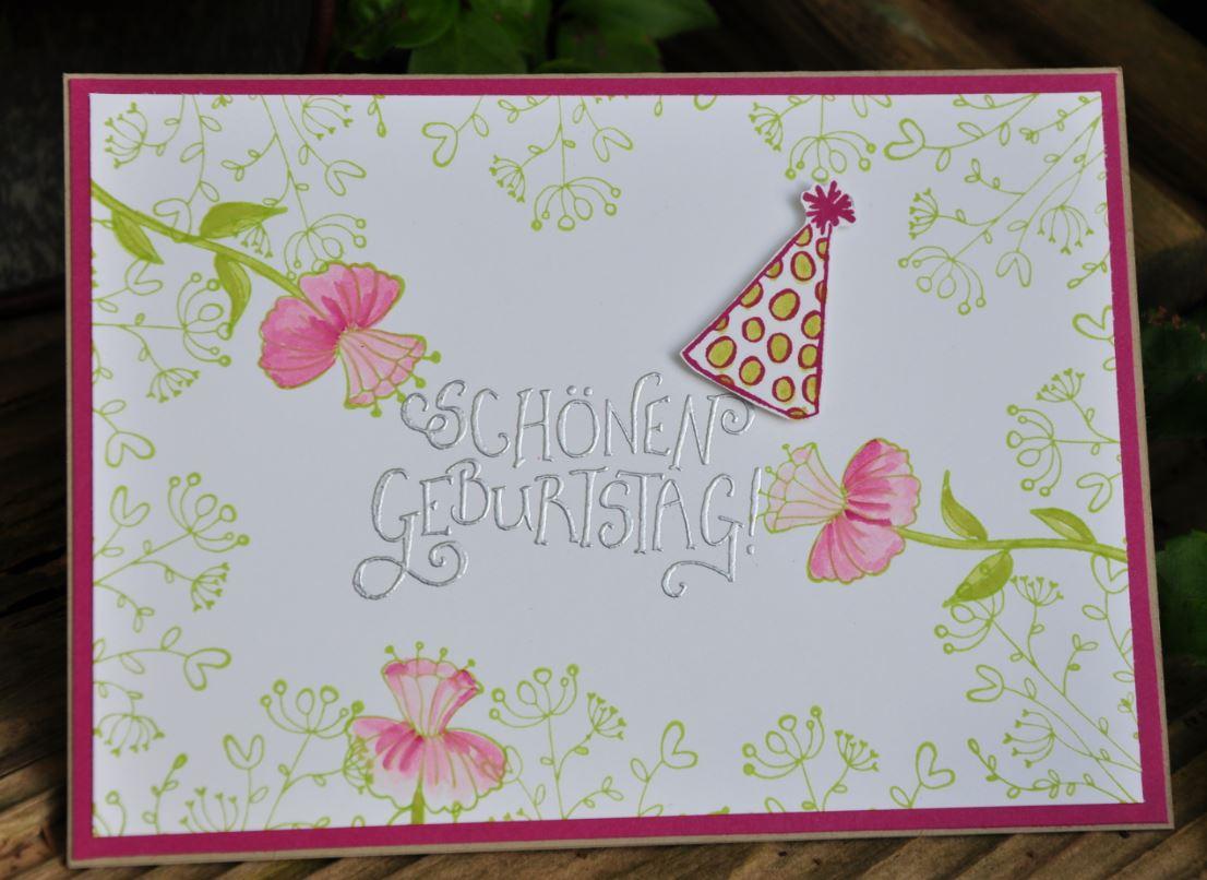 Embossing – Stempeln im Süden - Geburtstagskarte Schreiben